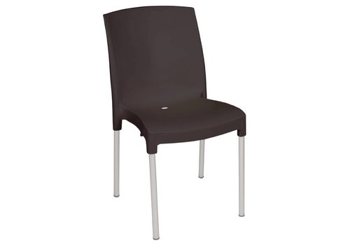 Bolero Plastic Chair Black 4 pieces