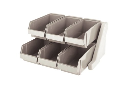 HorecaTraders Cutlery holder with 6 Bins