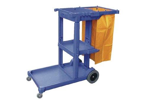 HorecaTraders Blau Reinigungswagen