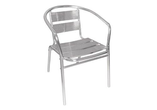Bolero Terrassenstuhl Aluminium Classic   4 Stück