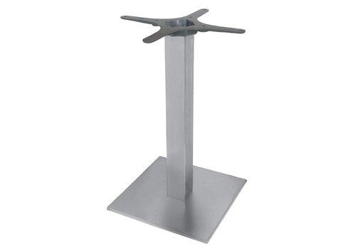 HorecaTraders Edelstahl Tischbein quadratisch - 72 cm hoch