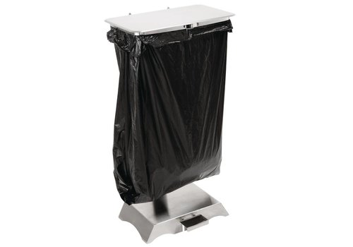 HorecaTraders Garbage bag holder stainless steel