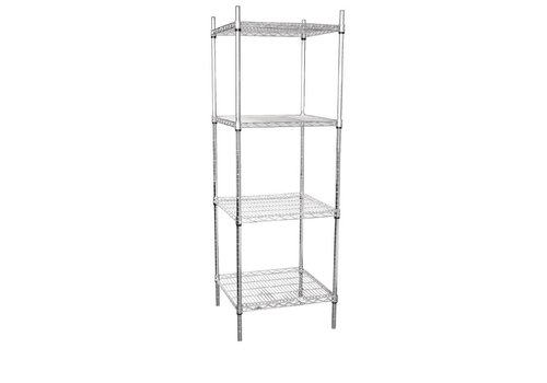 Vogue Stock rack with 4 shelves 183x61x61cm
