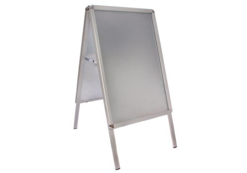 HorecaTraders Aluminium Stoepbord | 46x70x (H) 91cm