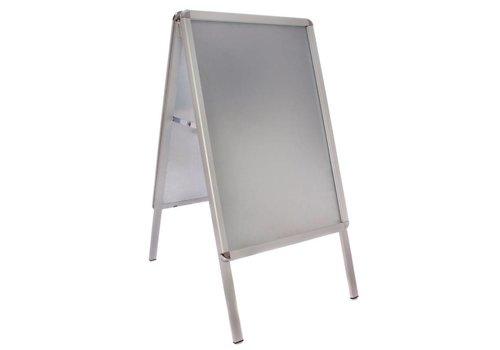HorecaTraders Aluminium Stoepbord | 46x70x(H)91cm