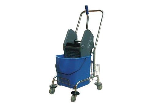 HorecaTraders Mop bucket with wring   30 liters