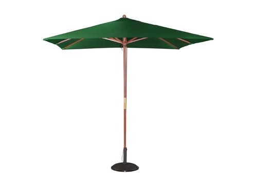 HorecaTraders Green square parasol 2,7 (h) x 2,5 (l) x 2,5 (b) meters