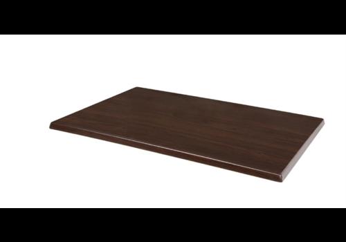 Bolero Rectangular table top Dark brown