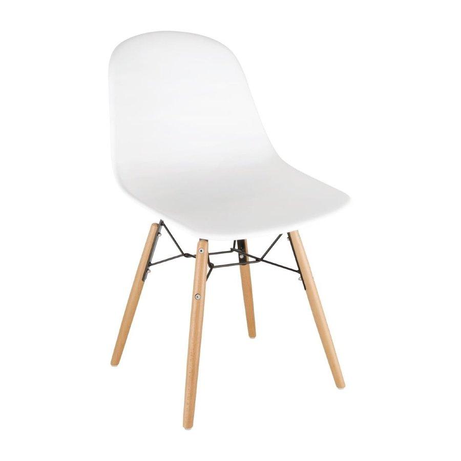 Amazing Bolero Plastic Chairs With Wooden Legs White 2 Pieces Ibusinesslaw Wood Chair Design Ideas Ibusinesslaworg