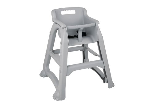 Bolero Gray Plastic Stackable High Chair