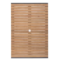 Rechthoekige Stalen en Acaciahouten Tafel 120 x 80 cm