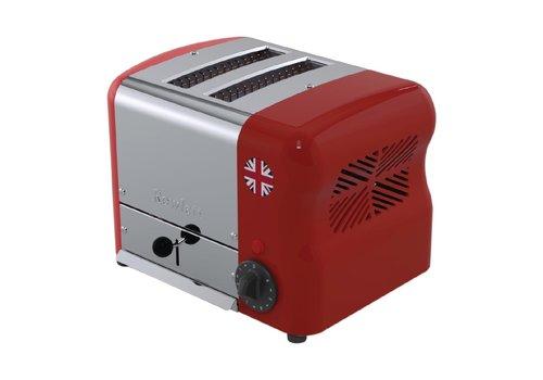 Rowlett Edelstahl-Toaster | 2 Slots | Rot