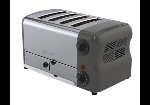 Rowlett Stainless Steel Toaster | 4 Slots | Gray