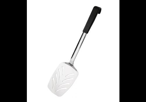 Vogue Serveerspatel met Zwarte Handgreep | RVS | 34cm