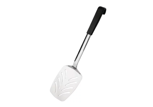 Vogue Serving spatula with black handle | Stainless steel 34 cm