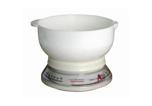 HorecaTraders Keukenweegschaal met Kom - KOOPJE
