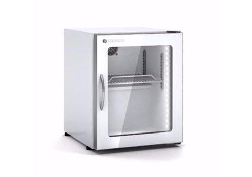 Coreco Mini-weißer Kühlschrank mit Glastür