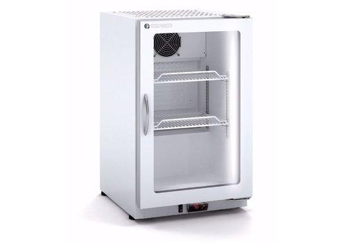 Coreco Kleiner Kühlschrank mit Glastür Weiß