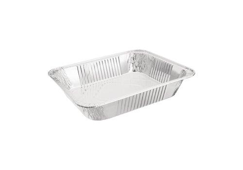 HorecaTraders Rechthoekige Serveerschaal | Aluminium | GN 1/2 (per 5 stuks)