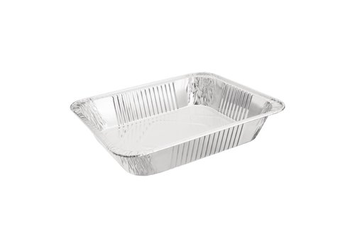 HorecaTraders Rectangular Serving dish Aluminum GN 1/2 (per 5 pieces)