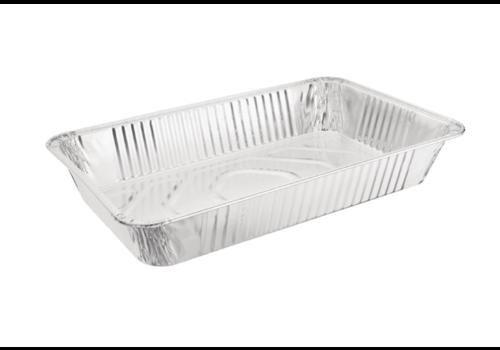 HorecaTraders Servierschale rechteckig | Aluminium GN 1/1 (pro 5 Stück)