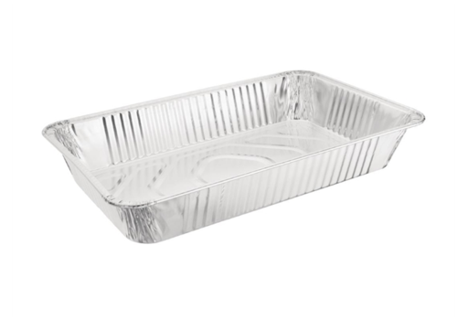 HorecaTraders Serving bowl Rectangular | Aluminum GN 1/1 (per 5 pieces)