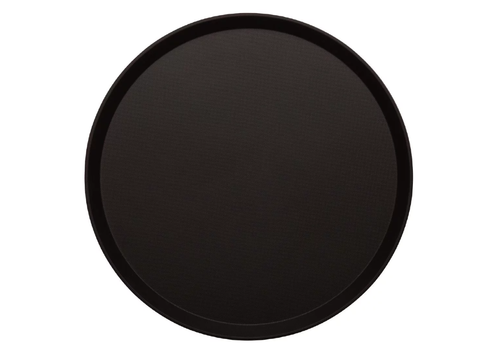 Cambro readlite round non-slip fiberglass tray black | 2 formats
