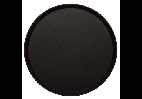 Cambro Treadlite Rond Antislip Glasvezel Dienblad Zwart | 2 Formaten