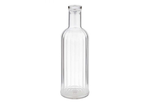 HorecaTraders Glass Carafe with Stripes | 2 colors