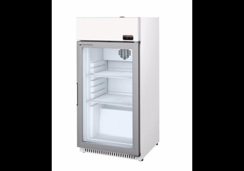 Coreco Kühlschrank mit Glastür Weiß / Stahl