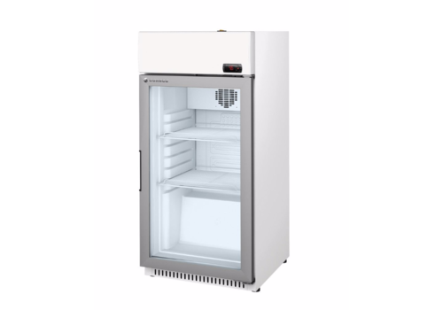 Coreco Refrigerator with glass door White / steel