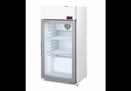 Coreco Kühlschrank mit Glastür Weiß mit Stahl