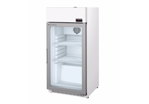 Coreco Refrigerator with glass door White with steel