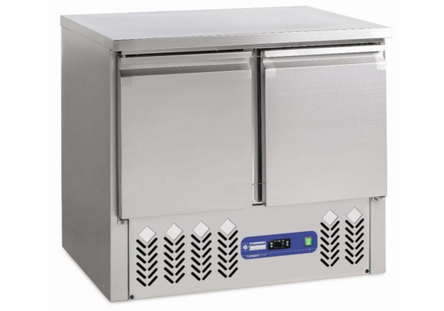Diamond Freezer workbench Stainless steel | 2 doors | 240 liters | 95x70xh85 / 87cm