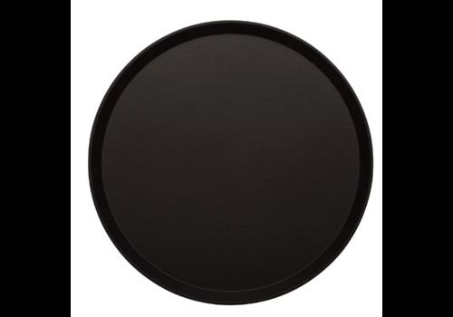 Cambro Round Non-slip Fiberglass Tray Black