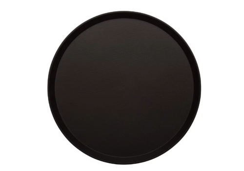 Cambro Runde rutschfeste Glasfaserplatte schwarz
