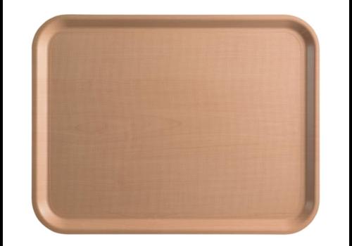 Cambro Hellbraunes, laminiertes Tablett 2 Formate