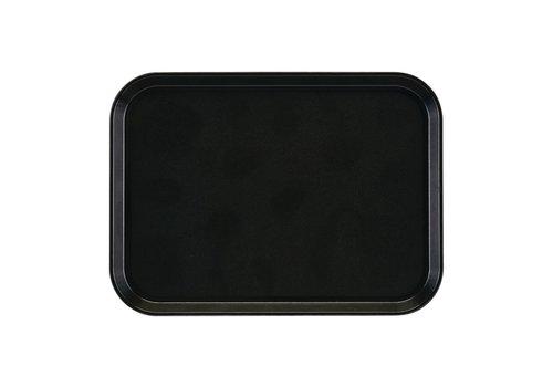 Cambro Tablett rechteckig | Rutschfeste Glasfaser 35x27 cm (4 Farben)