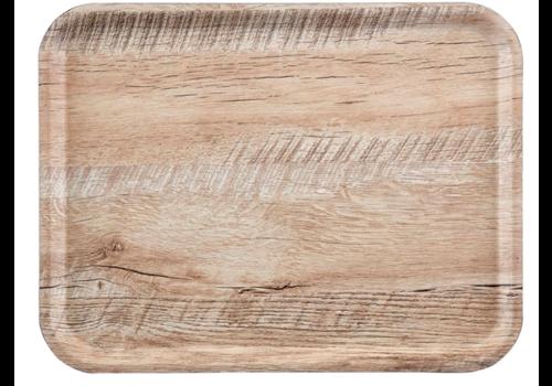 Cambro Melamin-Tabletts | Holzeffekt Verschiedene Farben