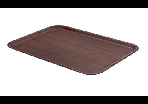 Cambro Braun laminiertes Tablett | 2 Formate