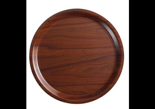 Cambro Braun laminiertes Tablett 38 (Ø) cm