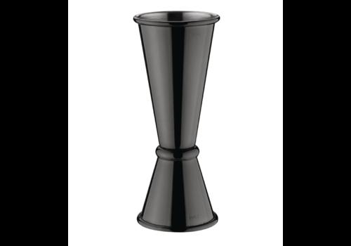 Olympia Barkeeper Edelstahl Schwarz   25/50 ml
