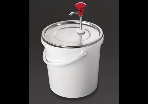Schneider Edelstahl-Saucenspender mit Pumpe | 10 Liter
