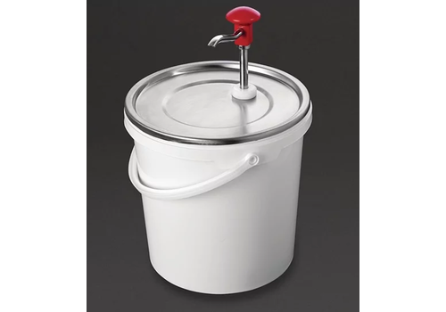 Stainless steel sauce dispenser with pump | 10 liters