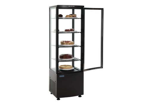 Polar Standing display case cooled with 5 levels - 235 liters