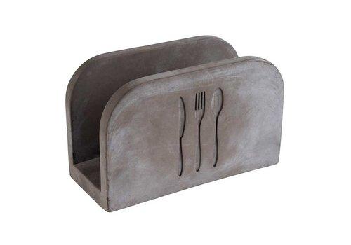 HorecaTraders Napkin holder Concrete   50 napkins