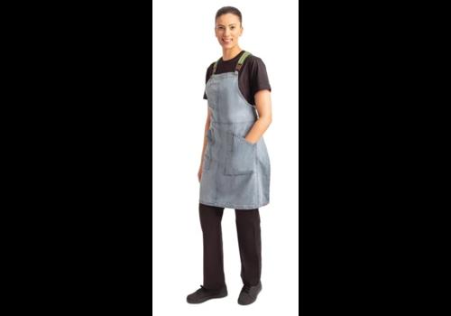 Chef Works Blue Denim Apron   incl. braces