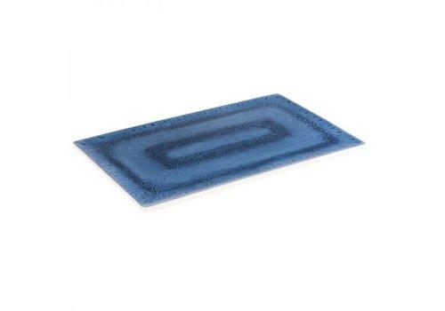 HorecaTraders Melamin Serviertablett GN 1/1 | Blaue Ozeanlinie