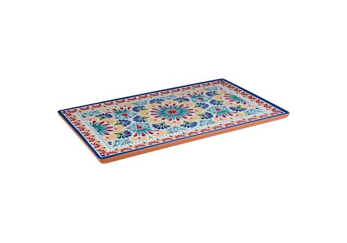 HorecaTraders Melamine Serving tray GN 1/1 | Arabesque Line