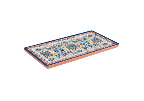 HorecaTraders Melamine Serving tray GN 1/3 Arabesque Line